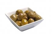 Groene olijf knoflook
