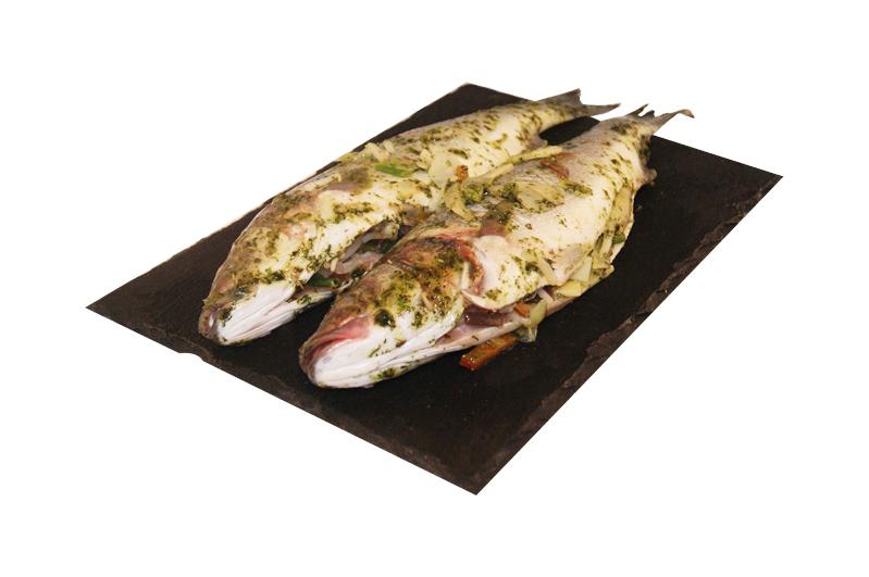 Zeebaars in franse marinade