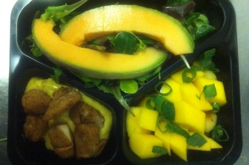 maaltijdsalade kip/kerrie/mango