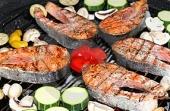 Barbecue vis pakket