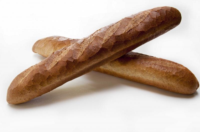 Gesneden stokbrood bruin