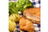 Bloemkool met cordonbleu en gekookte aardappelen