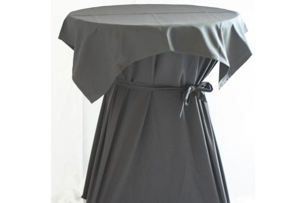 Statafel (ø85) met tafelrok en afdekkleed zwart