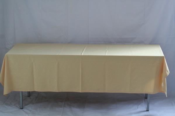 Tafel lang (200x70) met kleed crème