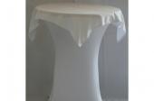 Statafel (ø85) met stretch rok en afdekkleed wit