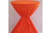Oranje tafelrok voor statafel