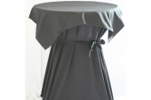 Tafelrok met afdek kleed zwart voor statafel