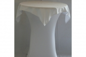Tafelrok met afdek kleed wit (strak model) voor statafel