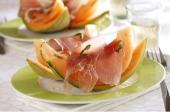 Ardenner rauwe ham met meloen