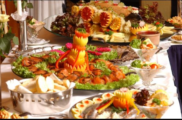 Koud en warm buffet vlees/vis de luxe