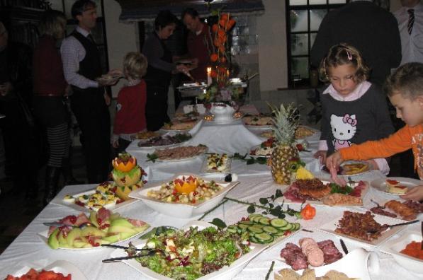 Koud en warm buffet standaard