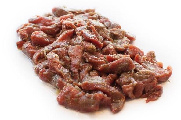 Gemarineerde biefstuk puntjes