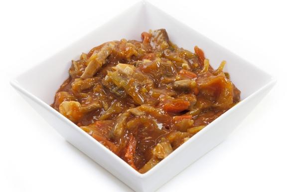 Nasi, met babi-pangang of saté