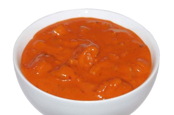 Gebraden kipfilet in stroganoffsaus