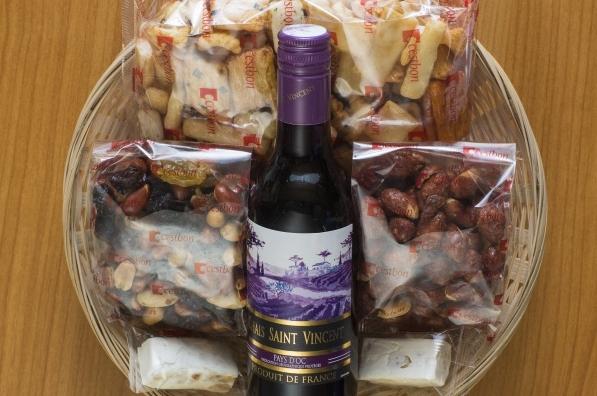 Geschenkmand rode wijn