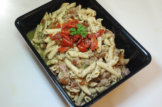 Pasta pesto tonijn