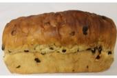 Rozijnenbrood met amandelspijs