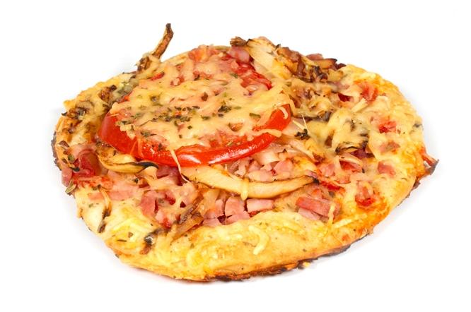 Pizza rond ham
