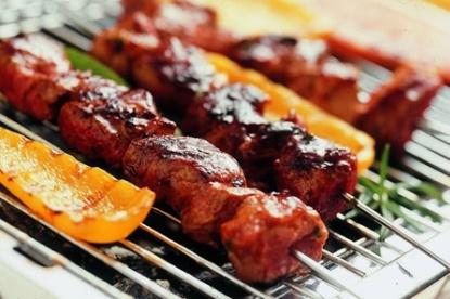 Barbecue variatie vlees vis
