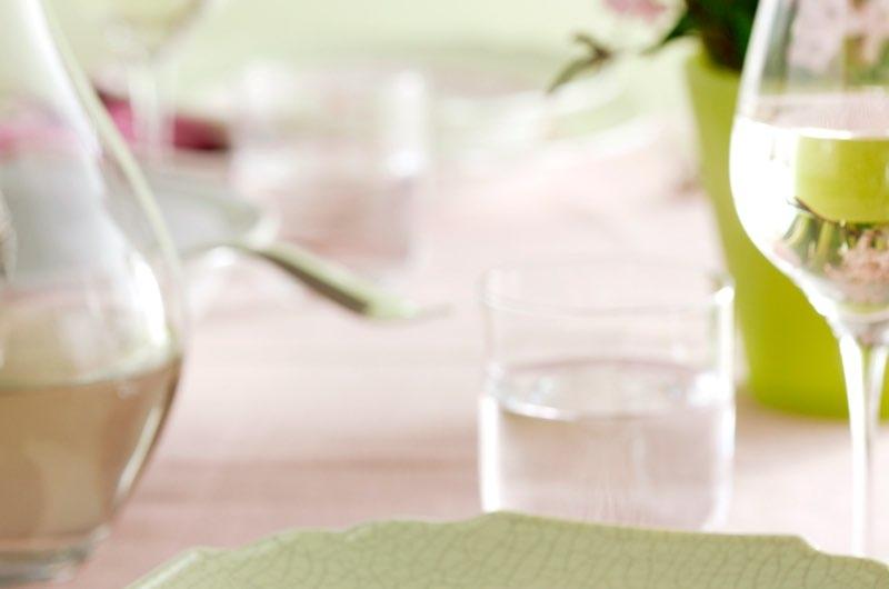 Setje bord/bestek zilver luxe