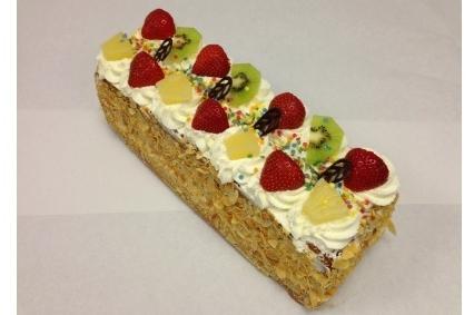 Opgespoten cake