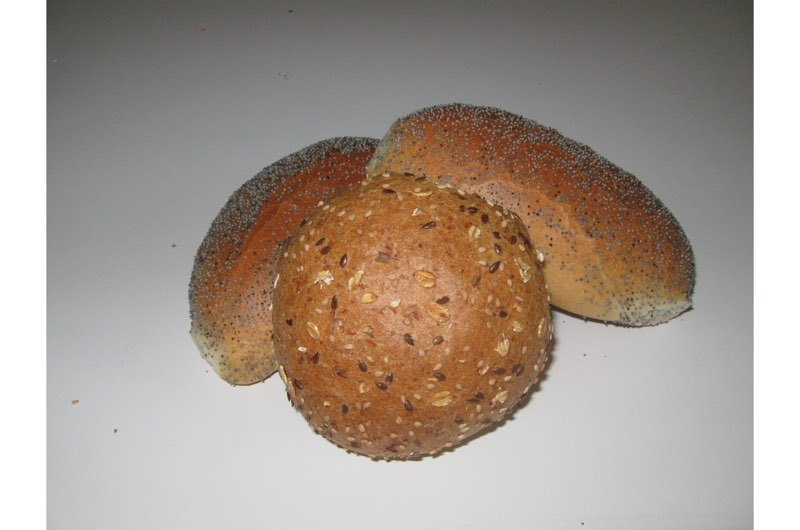 Hard broodje met zaad