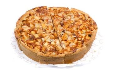 Grote roomboter appeltaart zonder slagroom