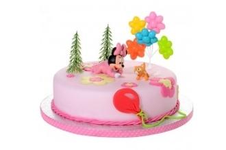 Baby Minnie - Fondant taart