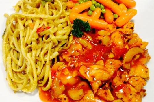 Bourgondische Kipschotel, broccoli & rijst