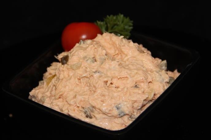 Zalm Salade van verse zalm
