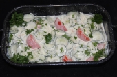 Komkommer- Tomaat salade