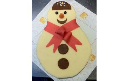 Sneeuw pop taart