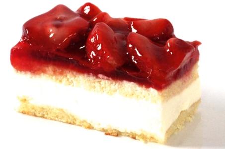 Glutenvrij en lactose vrij aardbeien gebakje