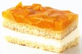 Gluten en lactose vrij perzik gebakje