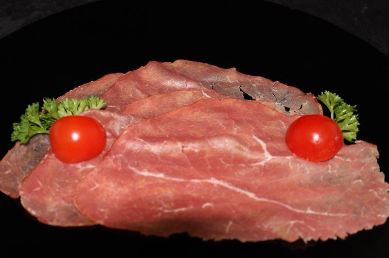 Runder Rookvlees licht gezouten