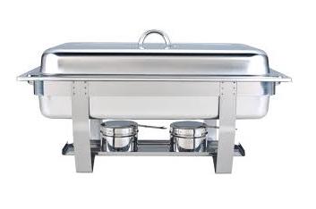 Chaving-dish rechthoek (exclusief 2 potjes brandpasta)