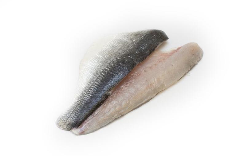 Verse zeebaars filet met vel geschubd