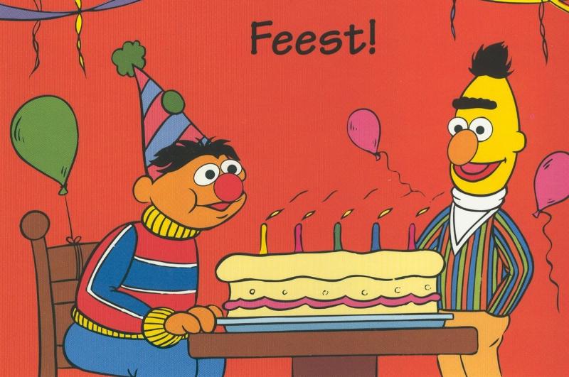 Bert en Ernie Fototaart