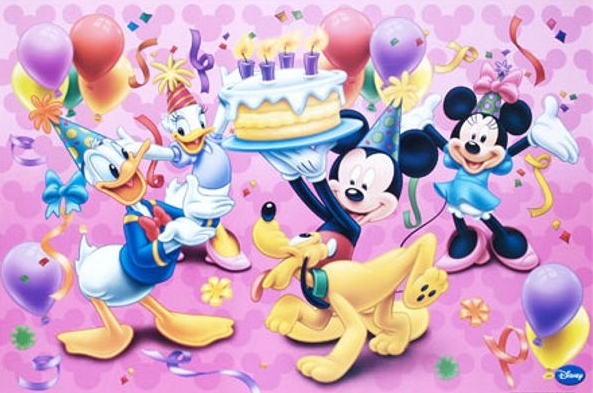 Disney happy birthday Fototaart