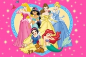 Disney Princess hart Fototaart