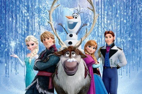 Frozen Fototaart