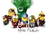 Minions Avengers fototaart