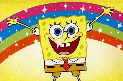 Spongebob Regenboog Fototaart