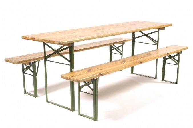 Bankje voor bij lange smalle tafel 220×50 cm
