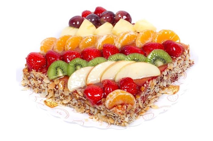 Vierkant vruchtentaart