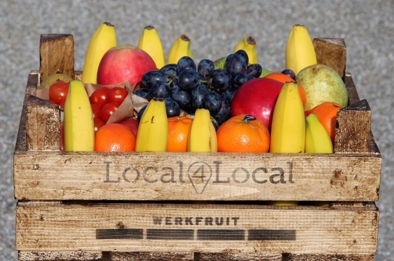 Werkfruit kistje 40 met seizoensfruit