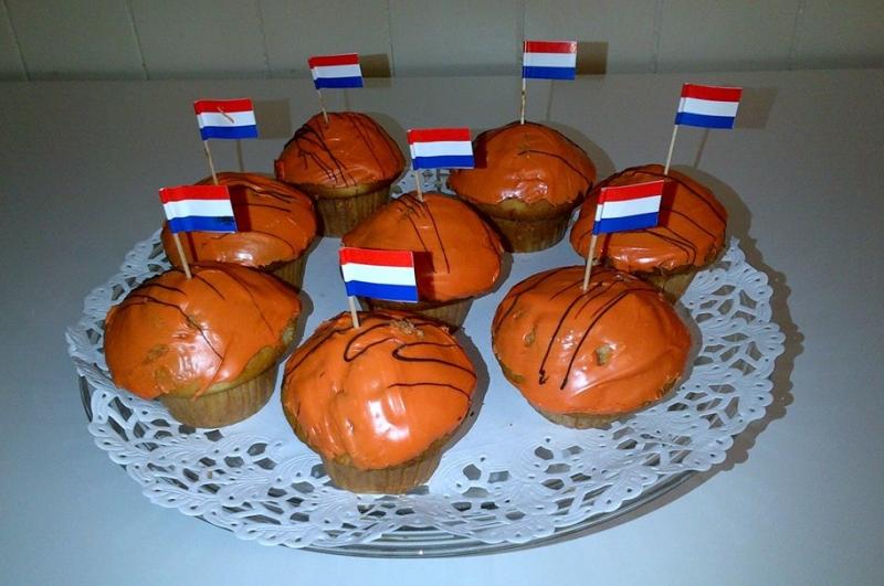 Oranje muffin