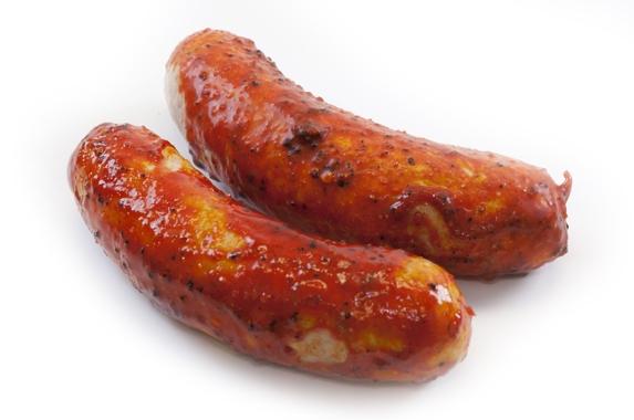 Eko varkens barbecue worstje