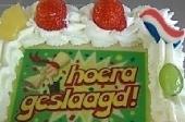 Geslaagd slagroom taart