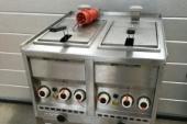 Dubbele frietpan 2x10L exclusief vet (2x7000 watt vermogen)